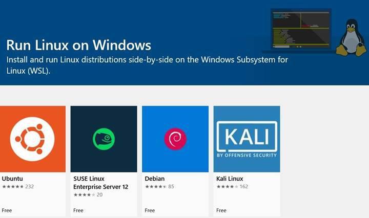 Gerçek Linux çekirdeği Windows alt sistemine entegre ediliyor