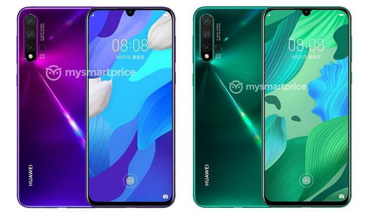 Huawei Nova 5 Pro'nun görselleri ve teknik özellikleri ortaya çıktı