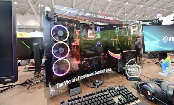 Bu da dünyanın ilk kavisli oyuncu PC kasası