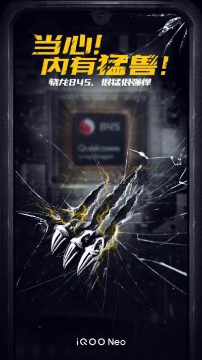 Vivo iQOO Neo Snapdragon 845 yonga seti