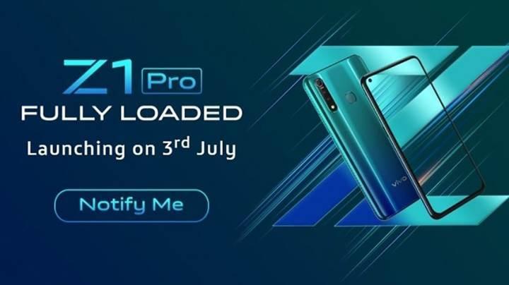 Üç arka kameralı Vivo Z1 Pro'nun lansman tarihi belli oldu