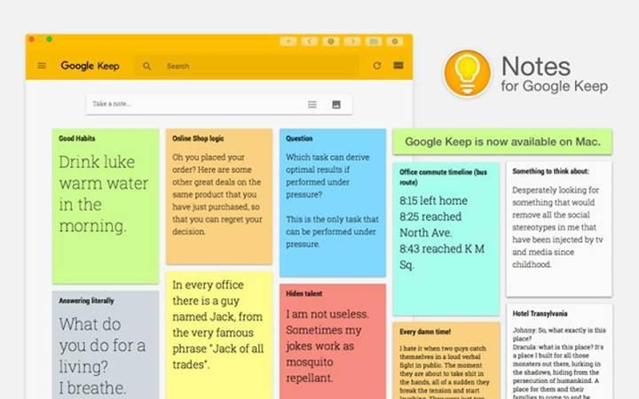 Google Keep, Play Store'da 500 milyon indirmeyi geride bıraktı