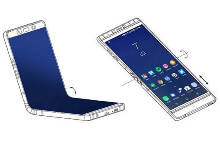 Samsung 6.7 inçlik dikey katlanabilen akıllı telefon tasarlıyor