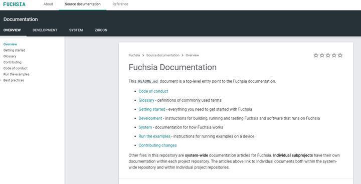 Google'ın yeni işletim sistemi Fuchsia'nın geliştirici sitesi açıldı