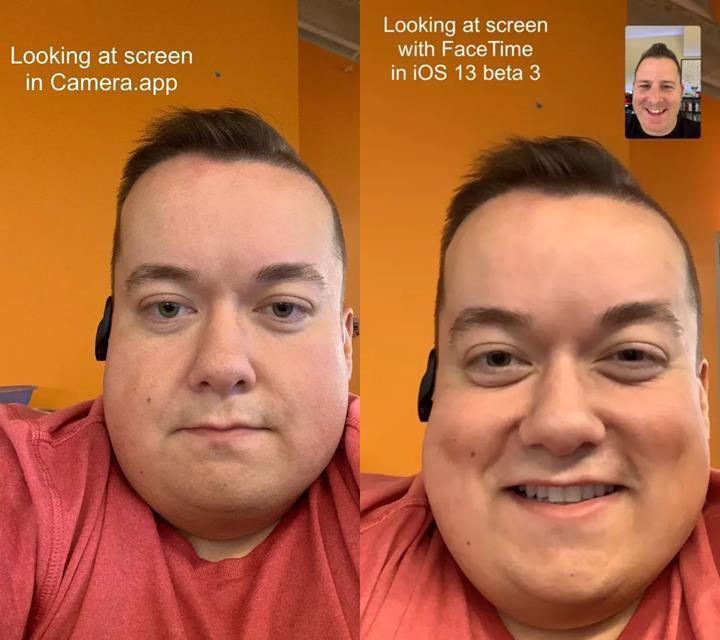 iOS 13, FaceTime'da konuşurken gözlerinizi kameraya odaklatacak