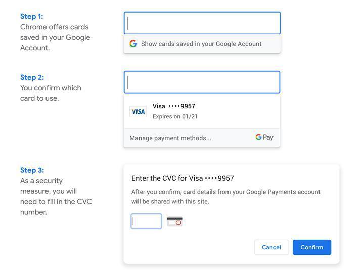 Chrome çevrimiçi alışverişi ödemelerinizi daha da kolaylaştırıyor