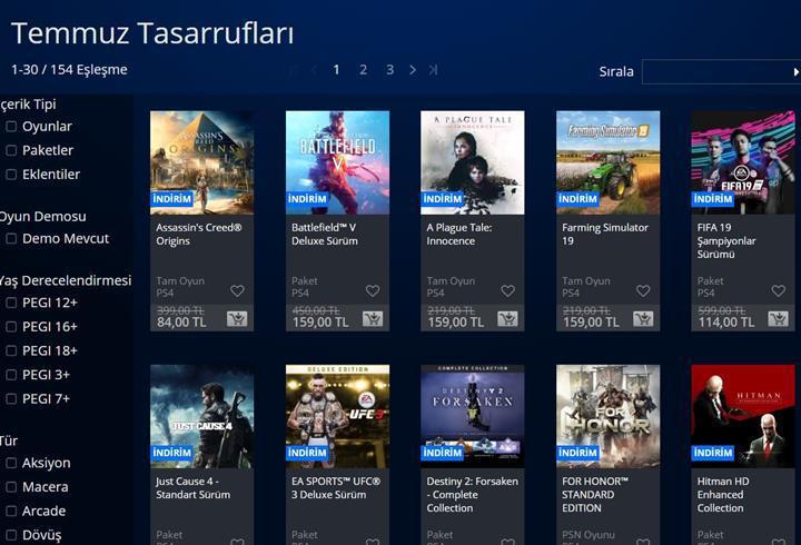 PlayStation Store'da 'Temmuz İndirimleri' başladı