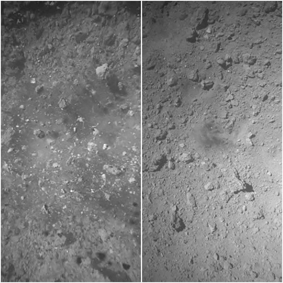 Hayabusa2, Ryugu asteroitinin yüzeyine indi: İşte gönderdiği fotoğraf