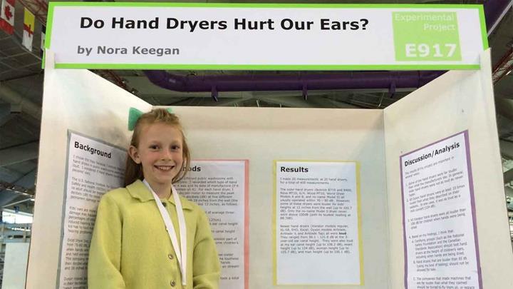 13 yaşında el kurutma makinalarının zararlı olduğunu kanıtladı