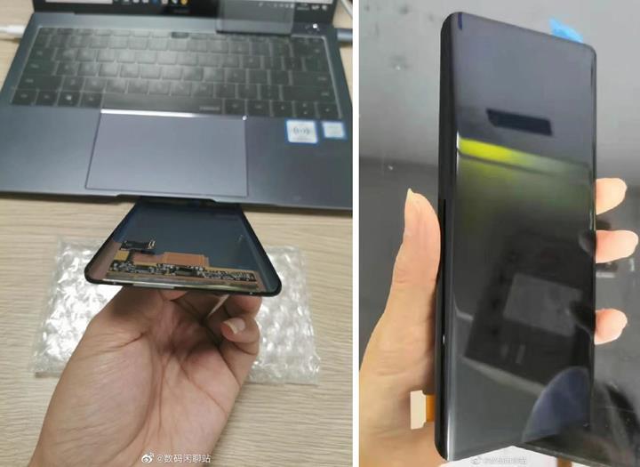 Huawei Mate 30 Pro şelale ekran ve geniş çentikle gelecek