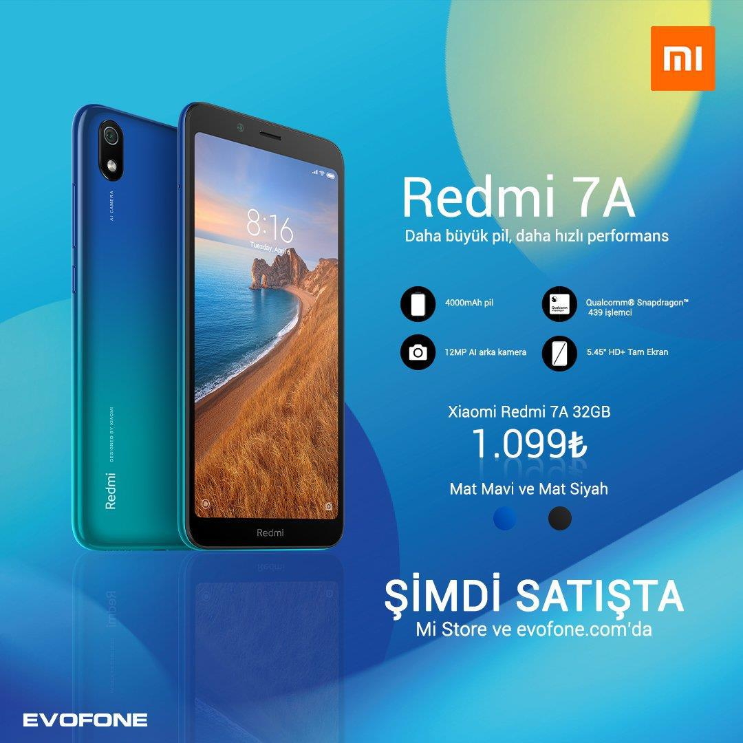 Redmi 7A Türkiye fiyatı belli oldu!