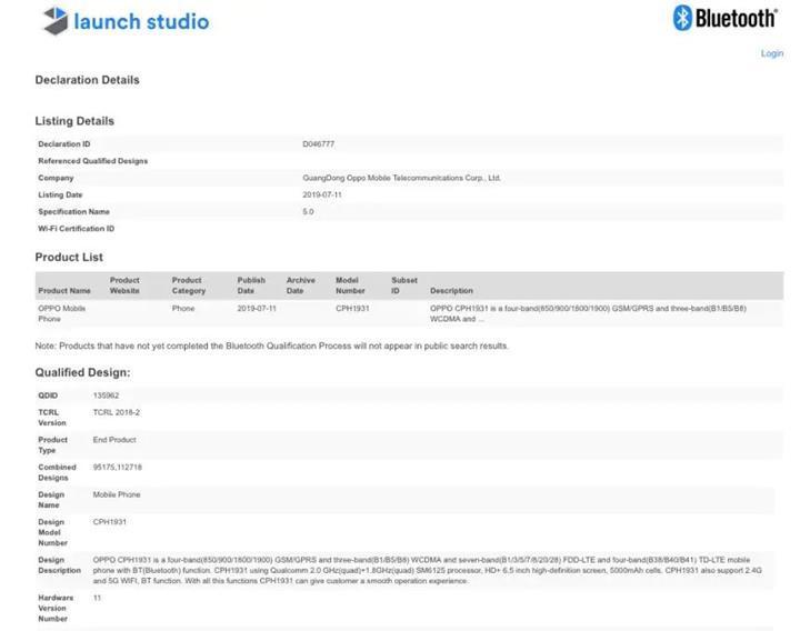 Oppo'nun 5.000 mAh pile sahip yeni telefonu ortaya çıktı