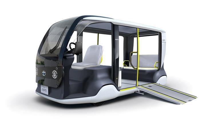 Toyota, 2020 Olimpiyatlarında kullanılacak elektrikli servis aracını tanıttı