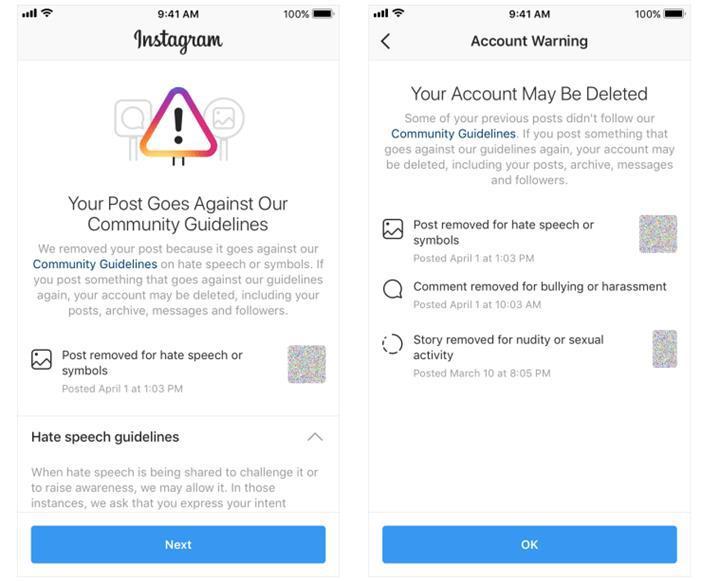 Instagram kapatacağı hesapları uyaracak