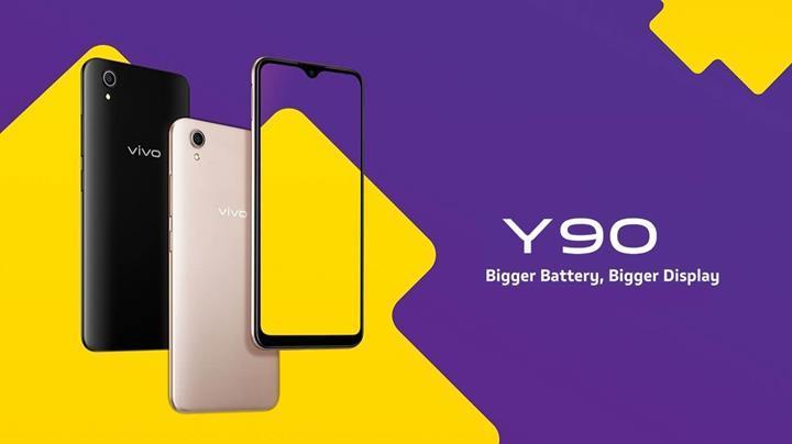 Vivo'dan büyük ekran ve pile sahip bütçe dostu telefon: Vivo Y90