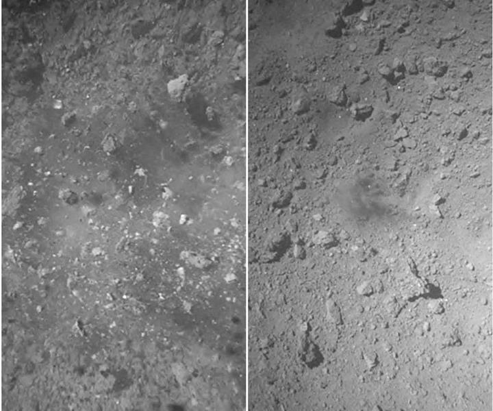 Hayabusa'nın asteroite iniş yaptığı anlardan inanılmaz video