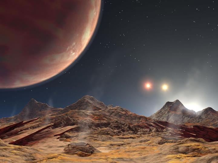 Bu gezegenin gökyüzünde üç tane güneşi var