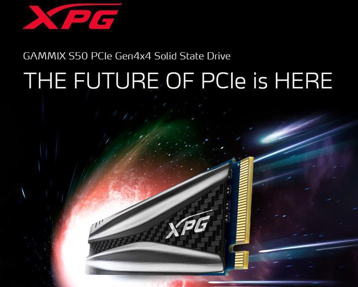 ADATA PCIe 4.0x4 arayüzünü kullanan GAMMIX S50 SSD'sini duyurdu