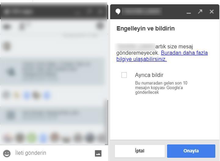 Google Hangouts'a 'Engelle ve bildir' özelliği geldi