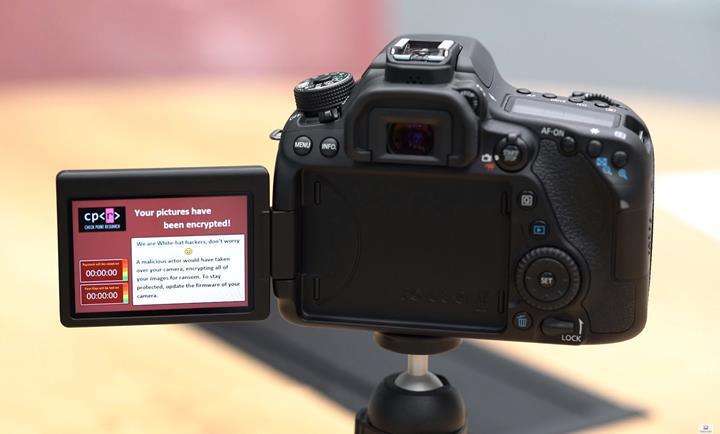 DSLR kameralar da fidye yazılımına maruz kalabilir