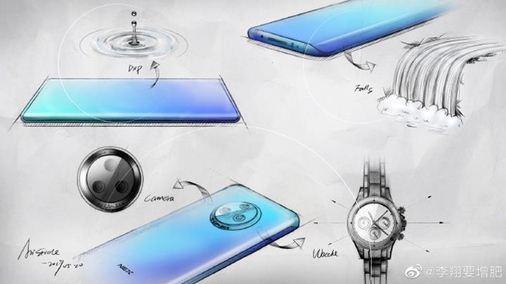 Şelale ekrana sahip Vivo NEX 3'ün tasarımı açığa çıktı