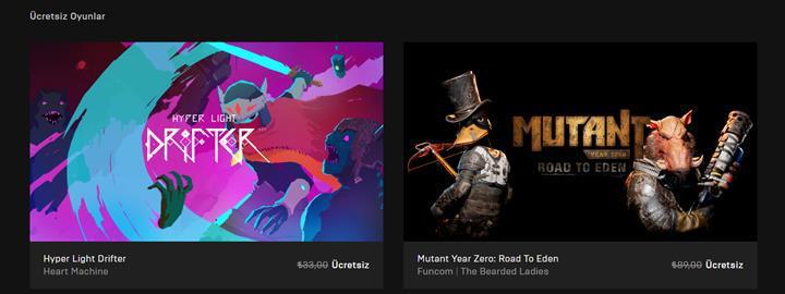 Toplam değeri 120TL olan iki oyun Epic Games mağazasında ücretsiz oldu