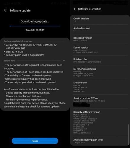 Galaxy Note 10 ve 10+ için ilk yazılım güncellemesi yayınlandı