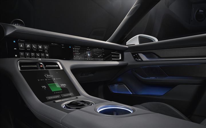 Elektrikli Porsche Taycan'ın kabini tamamen ortaya çıktı