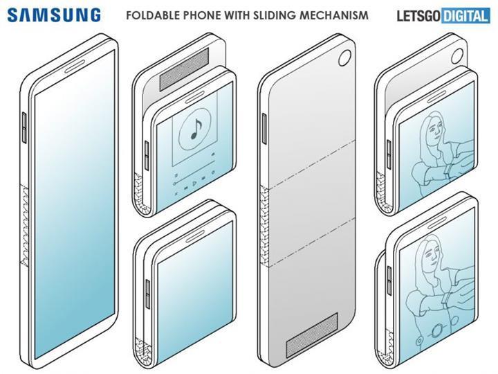 Samsung dikey olarak katlanabilen akıllı telefon patenti aldı