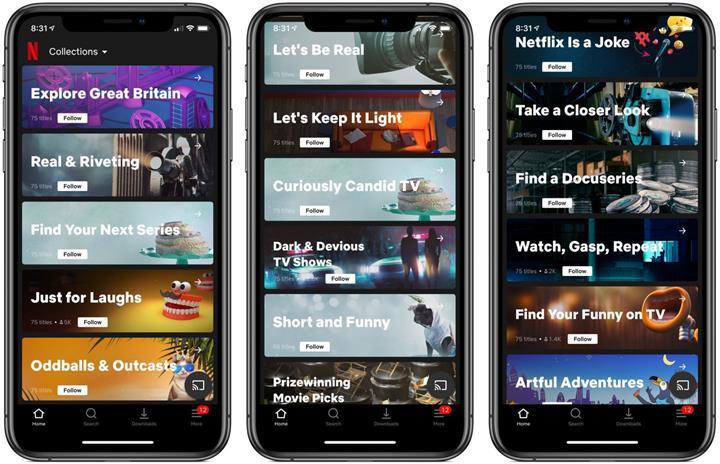 Netflix insanlar tarafından oluşturulan koleksiyonları test ediyor
