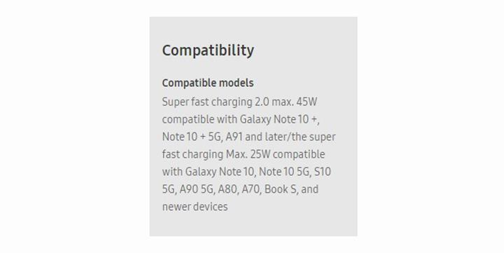 Samsung'un 45W şarj cihazı A91 ve A90 5G'yi doğruladı