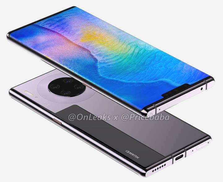 Huawei Mate 30 Pro'nun tasarımını açığa çıkaran yeni görseller yayınlandı