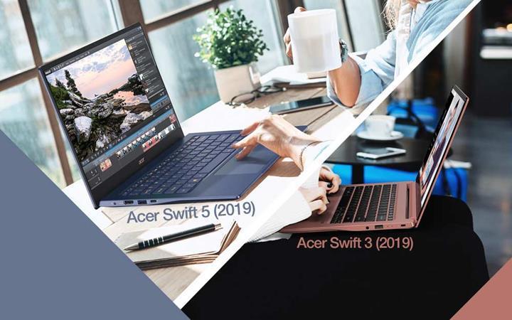Acer Swift 5 ve 3 yenilendi