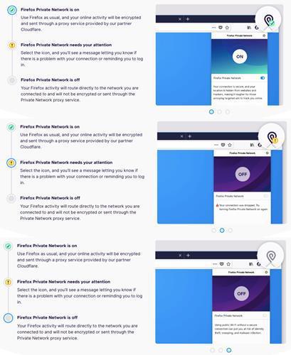 Firefox'un dâhili VPN özelliği beta sürümüne sunuldu