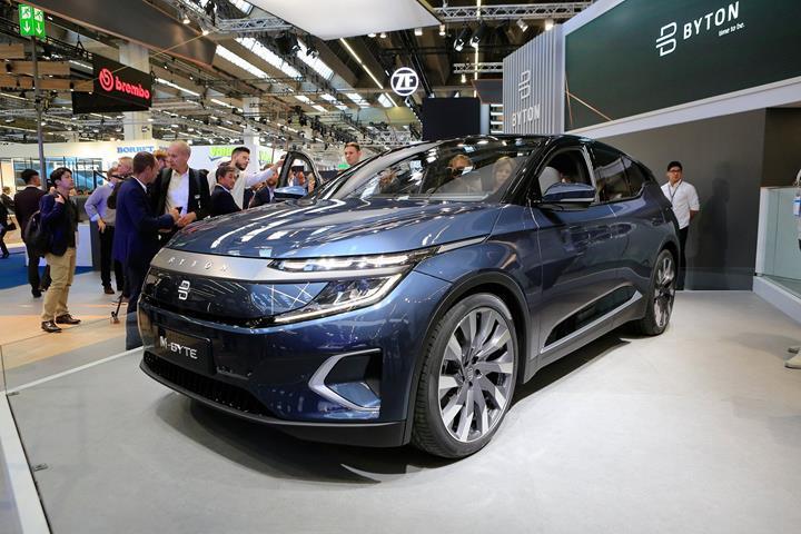48 inç multimedya ekranına sahip Byton M-Byte elektrikli SUV, nihai tasarımıyla Frankfurt'ta