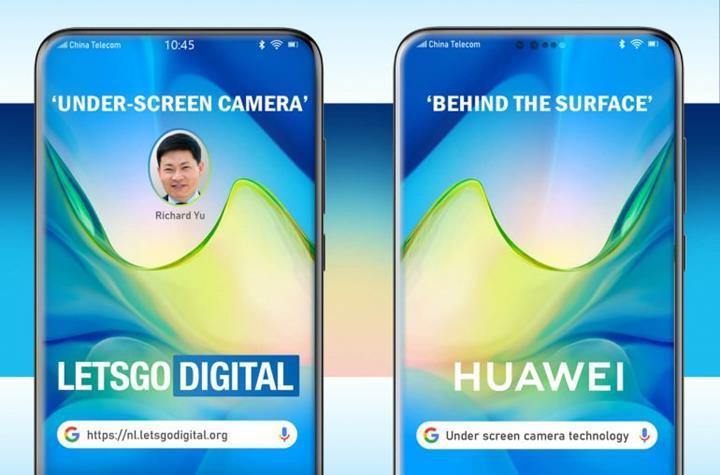 Huawei'nin ekran altı kamera teknolojisi böyle çalışacak