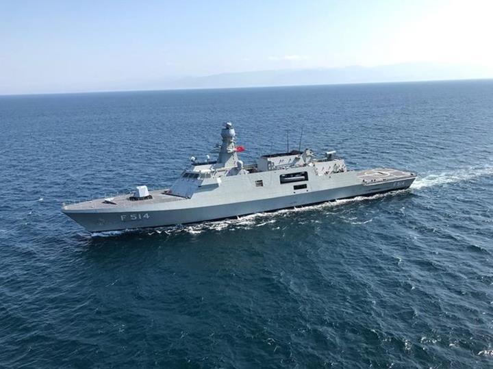 Atmaca füzesi ile donatılan TCG Kınalıada korveti bu hafta donanmaya katılıyor
