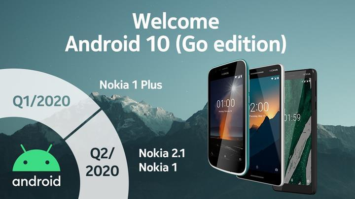 Android 10 Go Edition güncellemesi, Nokia modellerine 2020'de ulaşacak