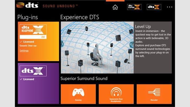 DTS Sound Unbound, Microsoft Mağazasında yayınlandı