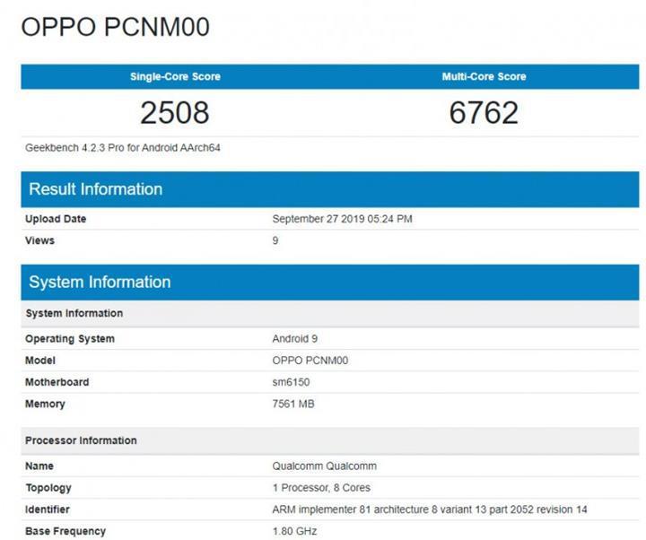OPPO K5 Geekbench'te görüntülendi