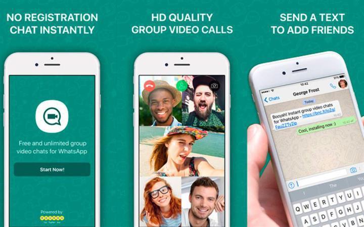 Booyah: WhatsApp'a görüntülü grup sohbeti özelliği kazandırın