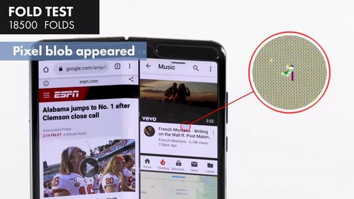 Samsung Galaxy Fold'un ekranı ancak 18.500 katlamaya dayanabildi