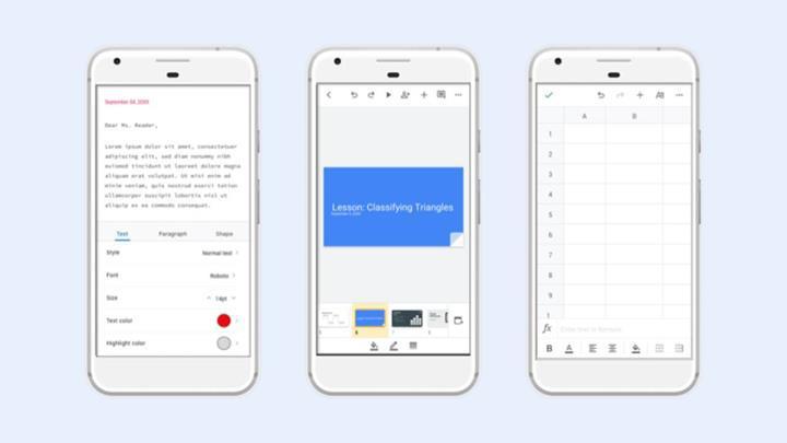 Google doküman uygulamaları yeni tasarıma kavuştu