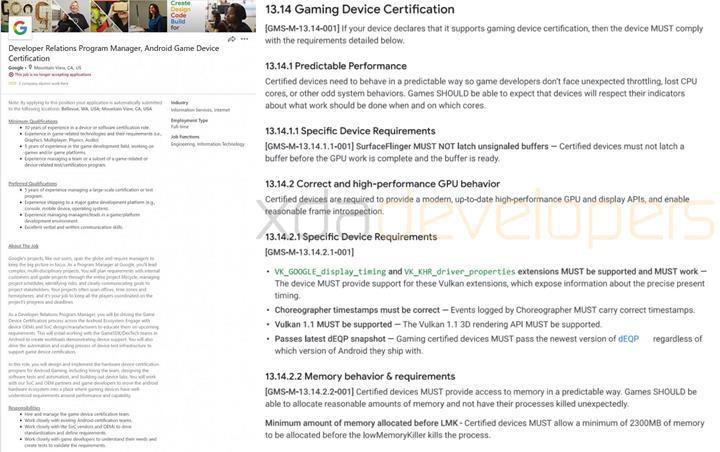 Oyuncu odaklı telefonlara Google standardı geliyor