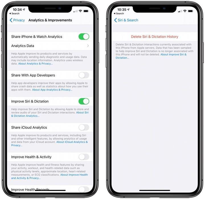 iOS 13.2 ile birlikte Siri geçmişini silme özelliği geliyor