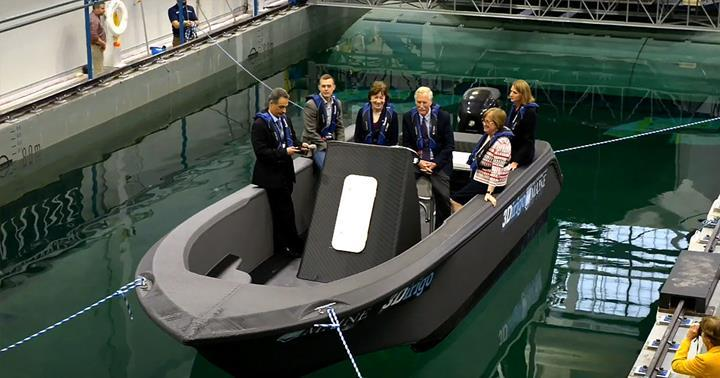 Üç boyutlu yazıcıyla dünyanın en büyük teknesi basıldı
