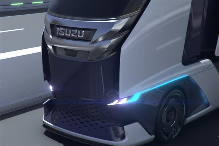 Isuzu'dan fütüristik tasarıma sahip otonom çekici konsepti: FL IR