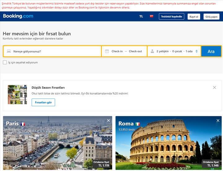Mahkemenin Booking.com kararı belli oldu