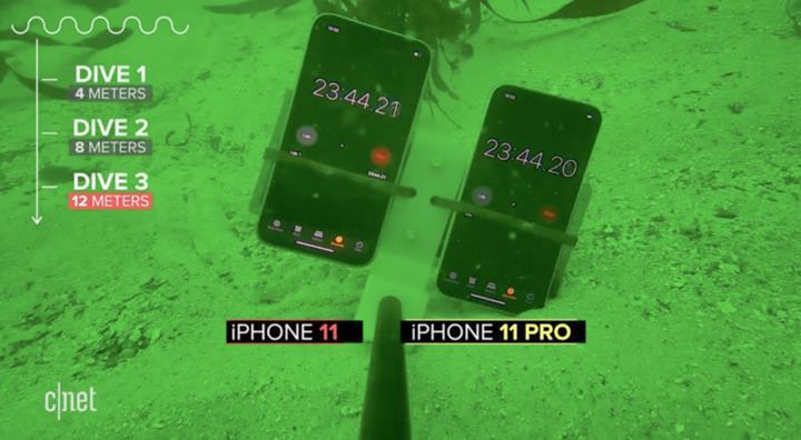 iPhone 11 Pro 12 metre derinliğe kadar suda kalabiliyor