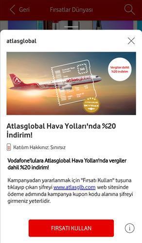 Vodafone Yanımda uygulamasına Fırsatlar Dünyası eklendi